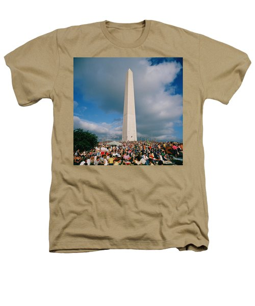 People At Washington Monument, The Heathers T-Shirt by Panoramic Images