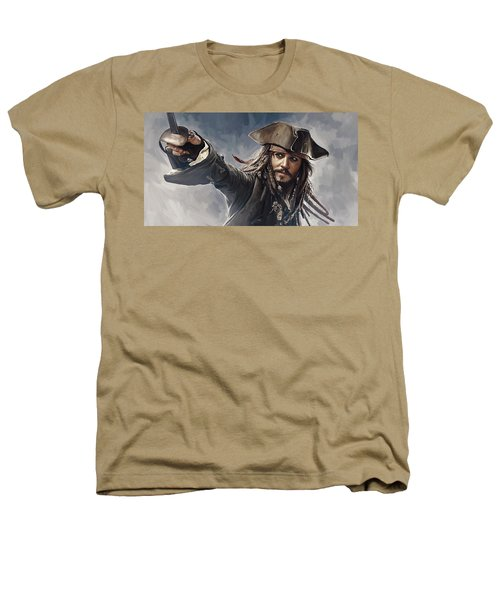 Pirates Of The Caribbean Johnny Depp Artwork 2 Heathers T-Shirt by Sheraz A