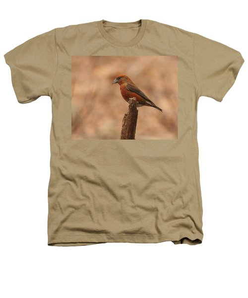 Red Crossbill Heathers T-Shirt by Charles Owens