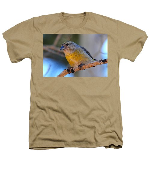 Red Crossbill Female Heathers T-Shirt by Marilyn Burton