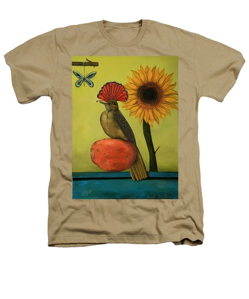 Royal Flycatcher  Heathers T-Shirt by Leah Saulnier The Painting Maniac