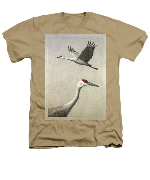 Sandhill Cranes Heathers T-Shirt by James W Johnson