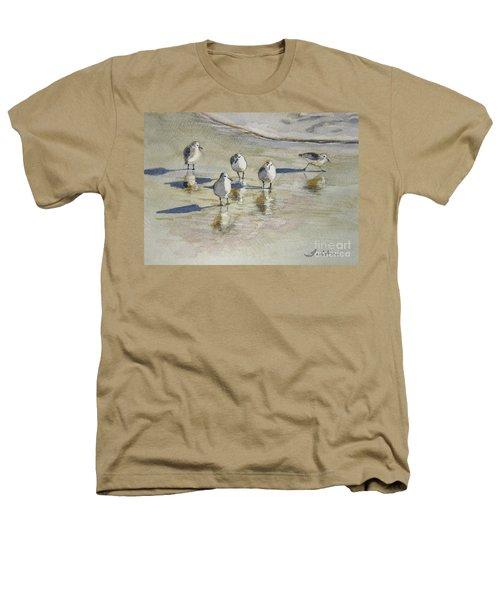 Sandpipers 2 Watercolor 5-13-12 Julianne Felton Heathers T-Shirt