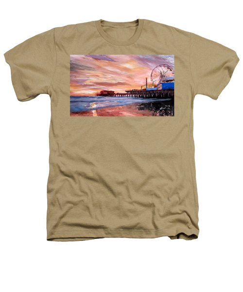 Santa Monica Pier At Sunset Heathers T-Shirt