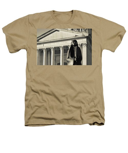 Sculpture Of Native American Heathers T-Shirt by Panoramic Images