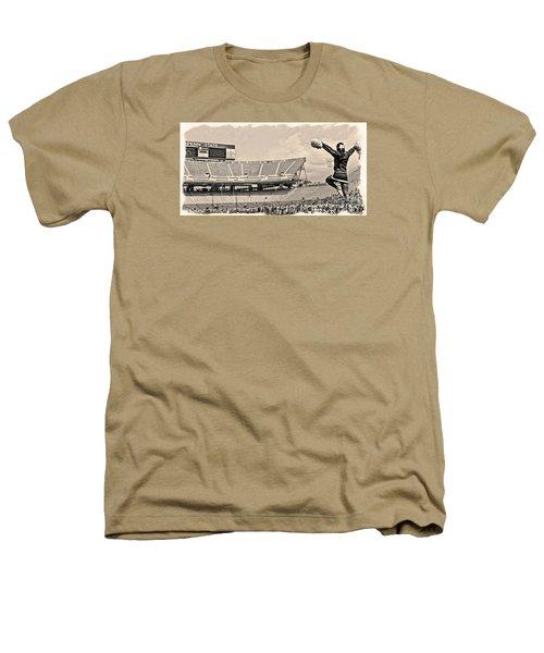 Stadium Cheer Black And White Heathers T-Shirt