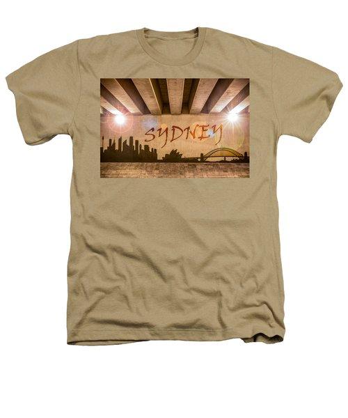 Sydney Graffiti Skyline Heathers T-Shirt by Semmick Photo