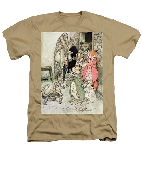 The Hare And The Tortoise, Illustration From Aesops Fables, Published By Heinemann, 1912 Colour Heathers T-Shirt