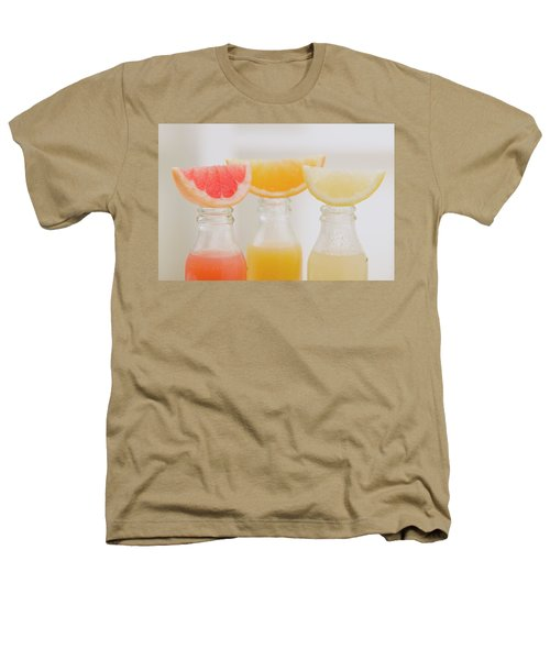 Three Fruit Juices In Bottles With Wedges Of Fresh Fruit Heathers T-Shirt