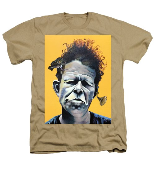 Tom Waits - He's Big In Japan Heathers T-Shirt by Kelly Jade King