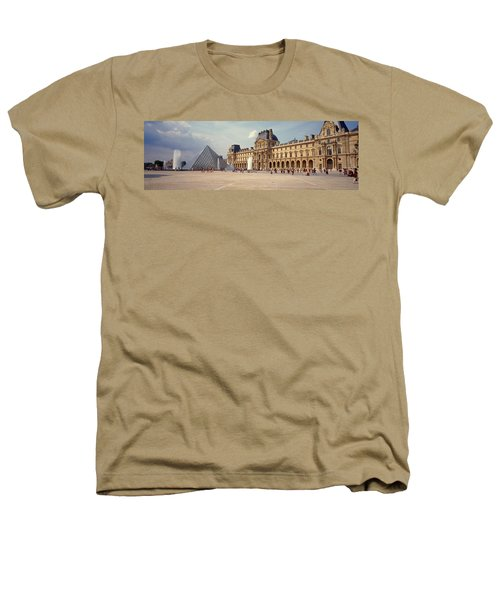 Tourists Near A Pyramid, Louvre Heathers T-Shirt