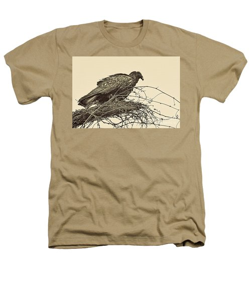 Turkey Vulture V2 Heathers T-Shirt by Douglas Barnard