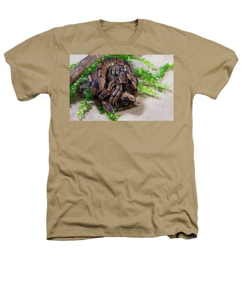 Two Burmese Pythons Python Bivittatus Heathers T-Shirt