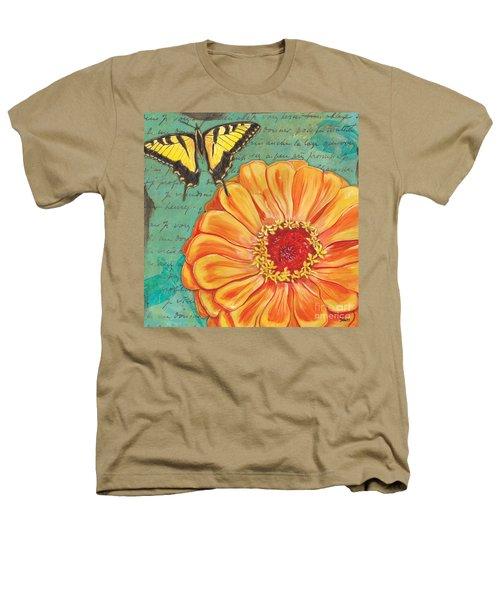 Verdigris Floral 1 Heathers T-Shirt