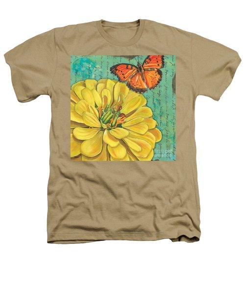 Verdigris Floral 2 Heathers T-Shirt