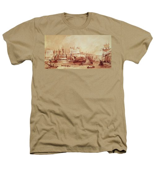 View Of The Tower Of London Heathers T-Shirt by William Parrott