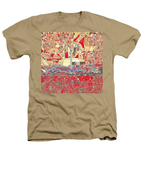 Washington Dc Skyline Abstract 6 Heathers T-Shirt