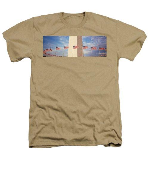 Washington Monument Washington Dc Usa Heathers T-Shirt by Panoramic Images