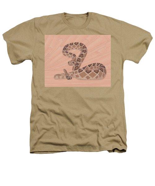 Western Diamondback Rattlesnake Heathers T-Shirt by Nathan Marcy
