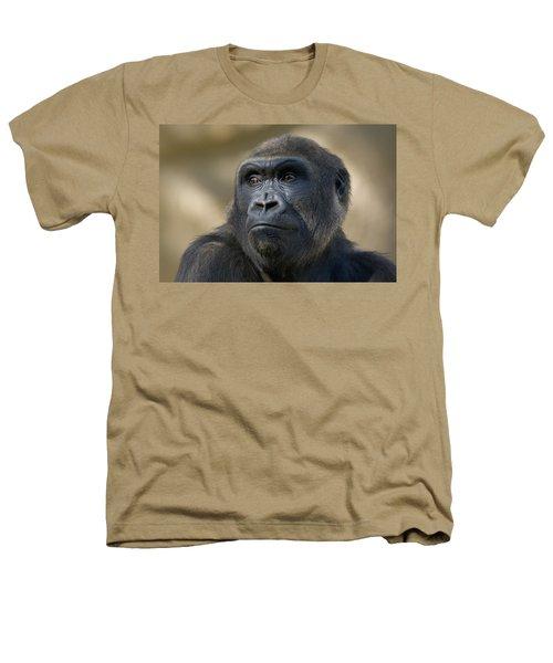 Western Lowland Gorilla Portrait Heathers T-Shirt by San Diego Zoo