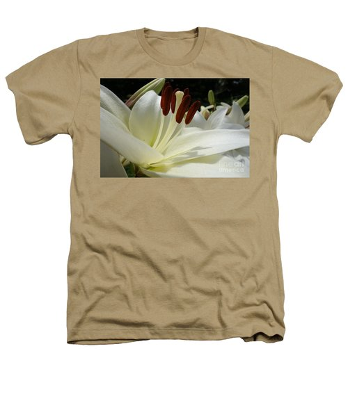 White Asiatic Lily Heathers T-Shirt by Jacqueline Athmann