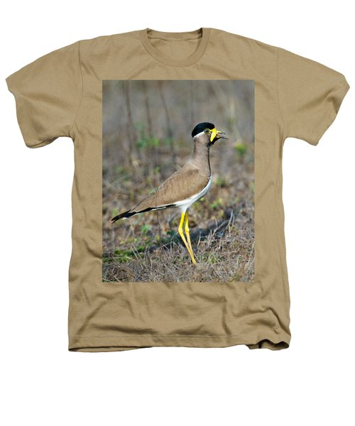 Yellow-wattled Lapwing Vanellus Heathers T-Shirt by Panoramic Images