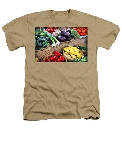 Farmers Market Summer Bounty Heathers T-Shirt by Kristin Elmquist