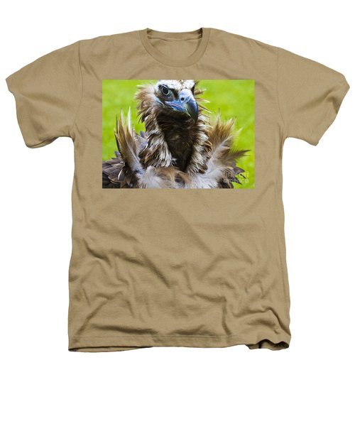 Monk Vulture 4 Heathers T-Shirt by Heiko Koehrer-Wagner