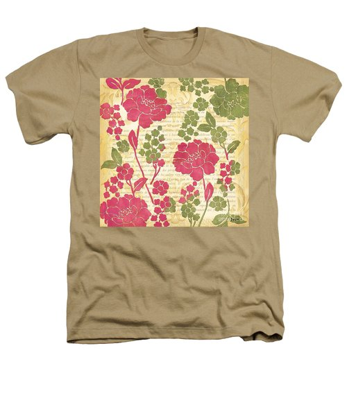 Raspberry Sorbet Floral 1 Heathers T-Shirt