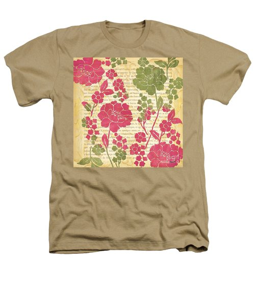 Raspberry Sorbet Floral 2 Heathers T-Shirt