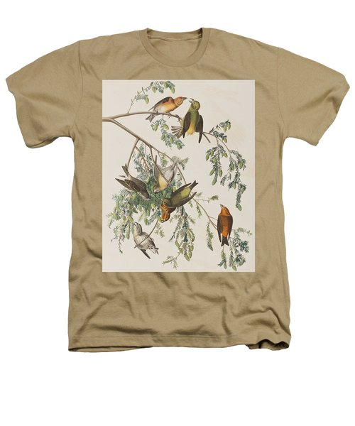 American Crossbill Heathers T-Shirt by John James Audubon
