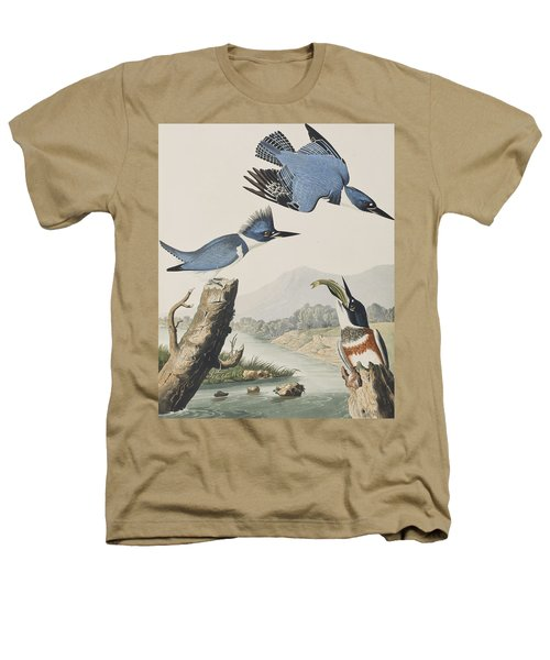 Belted Kingfisher Heathers T-Shirt by John James Audubon