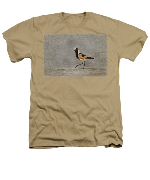 Black-winged Lapwing Art Heathers T-Shirt by Kay Brewer
