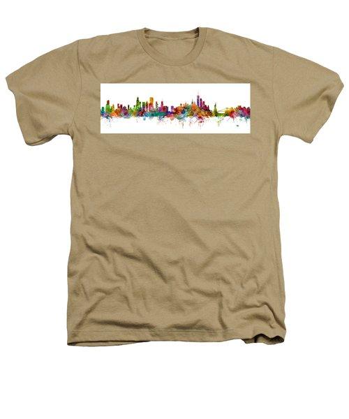 Chicago And New York City Skylines Mashup Heathers T-Shirt