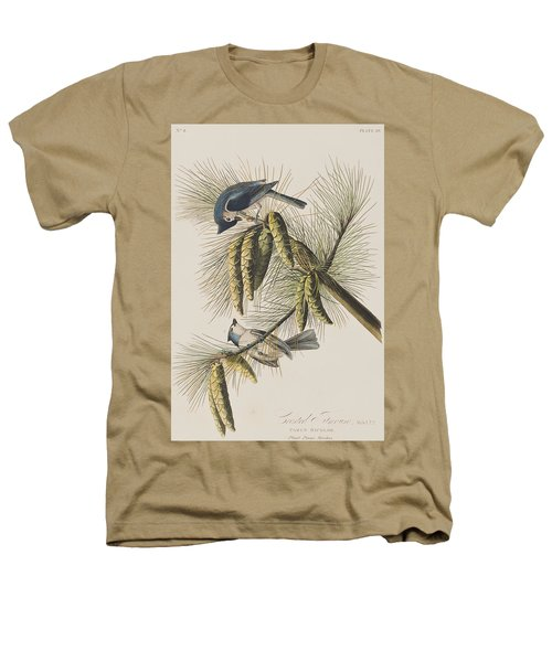 Crested Titmouse Heathers T-Shirt