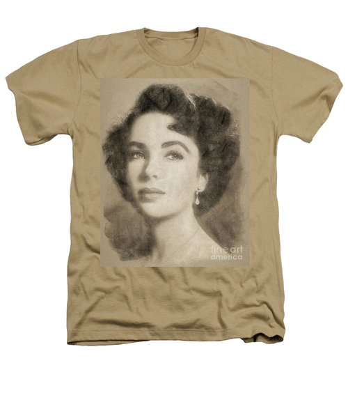 Elizabeth Taylor, Vintage Hollywood Legend By John Springfield Heathers T-Shirt by John Springfield