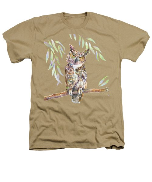 Great Horned Owl  Heathers T-Shirt by Amy Kirkpatrick