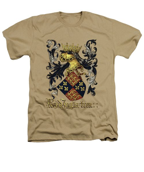 King Of England Coat Of Arms - Livro Do Armeiro-mor Heathers T-Shirt by Serge Averbukh