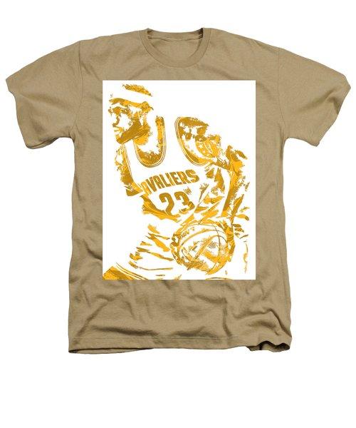 Lebron James Cleveland Cavaliers Pixel Art 7 Heathers T-Shirt