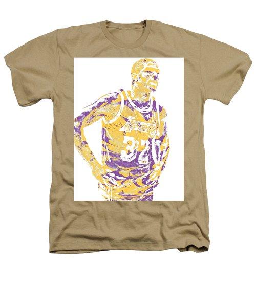 Magic Johnson Los Angeles Lakers Pixel Art 6 Heathers T-Shirt
