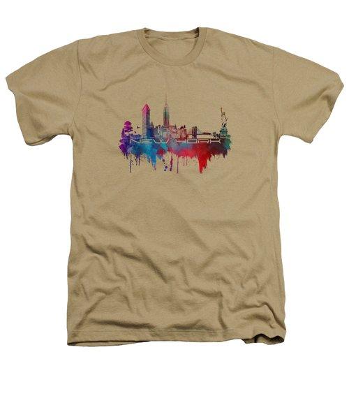 New York City Skyline Blue Heathers T-Shirt