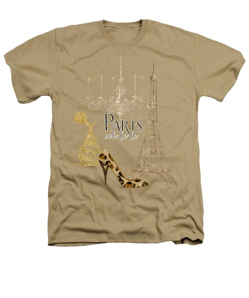 Paris - Ooh La La Fashion Eiffel Tower Chandelier Perfume Bottle Heathers T-Shirt by Audrey Jeanne Roberts