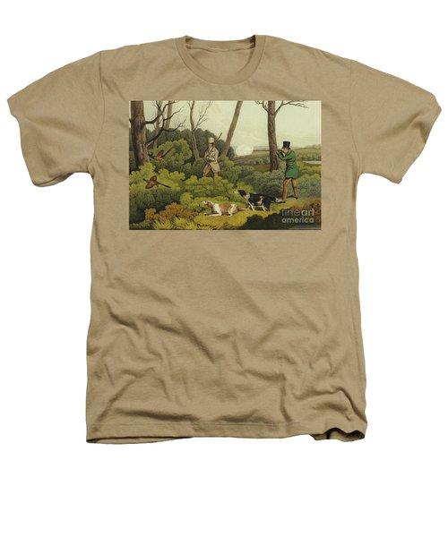 Pheasant Shooting Heathers T-Shirt by Henry Thomas Alken
