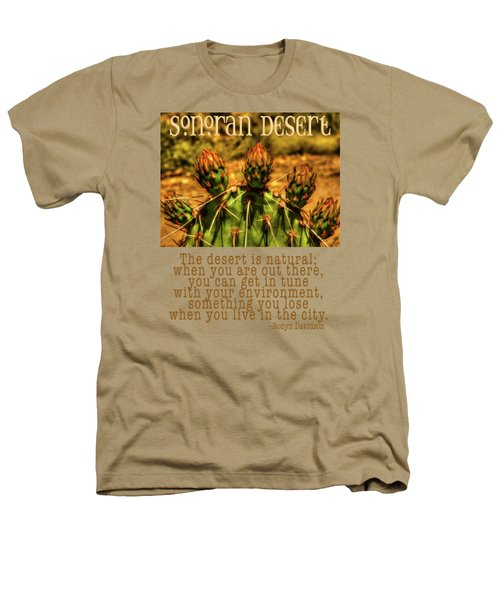 Prickly Pear Cactus Heathers T-Shirt by Roger Passman