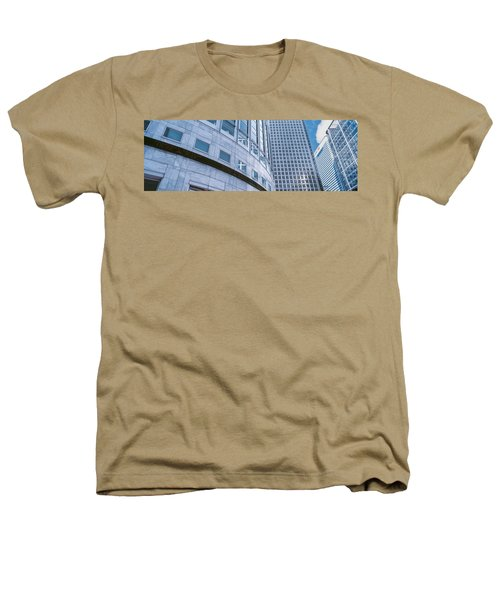 Skyscrapers In A City, Canary Wharf Heathers T-Shirt by Panoramic Images