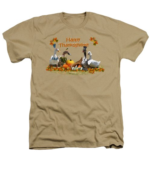 Thanksgiving Ducks Heathers T-Shirt by Gravityx9 Designs
