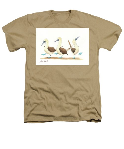 Three Blue Footed Boobies Heathers T-Shirt