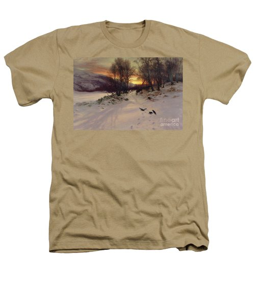When The West With Evening Glows Heathers T-Shirt by Joseph Farquharson