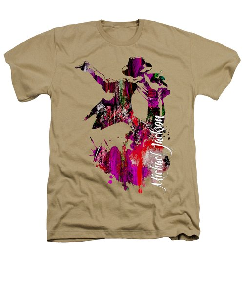 Michael Jackson Collection Heathers T-Shirt by Marvin Blaine