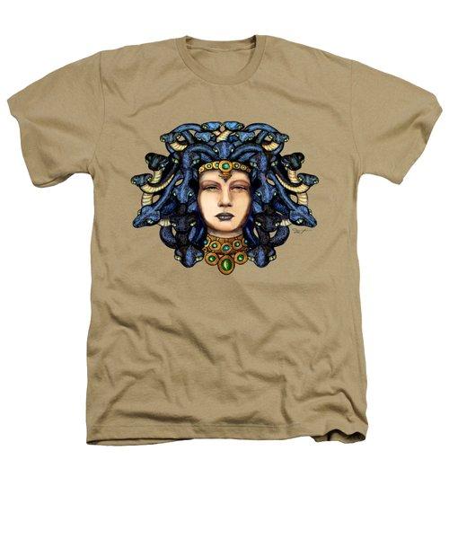 16x20 Medusa 2 Blu Gold Heathers T-Shirt by Dia T